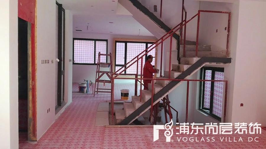 上海泷湾苑别墅装修工地现场照片拍摄