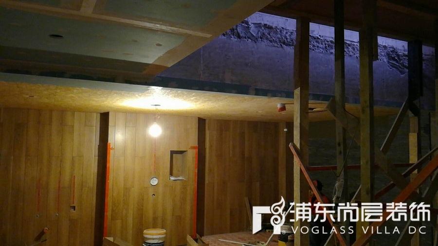上海尚层装饰泷湾苑中期验收工地现场
