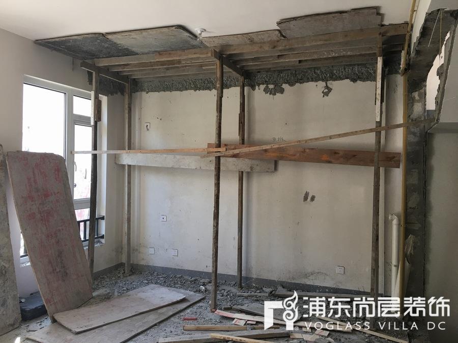 上海院子土建阶段施工工地现场照片