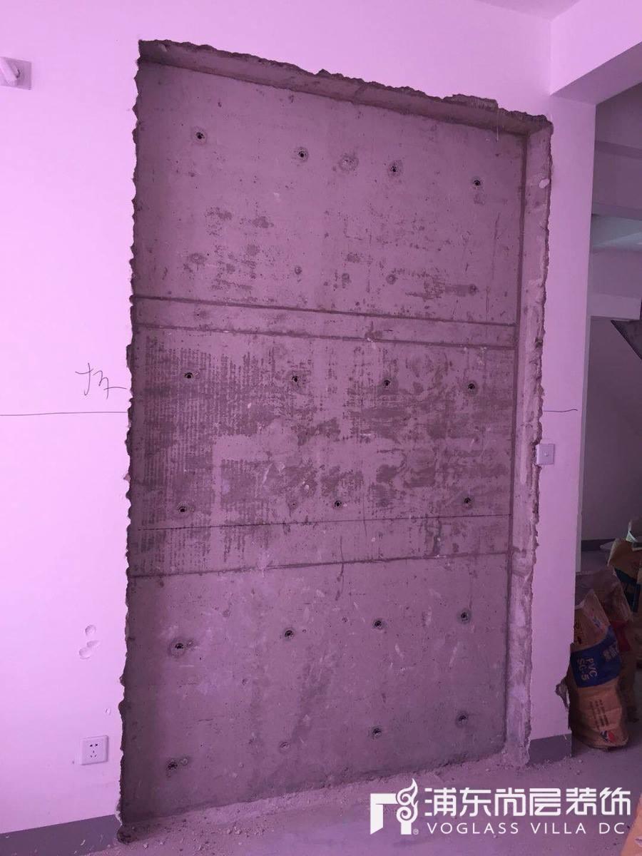 森兰名轩小区装修项目土建拆墙阶段