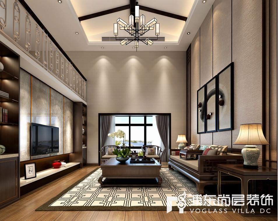 新中式风格别墅豪宅客厅装修效果图