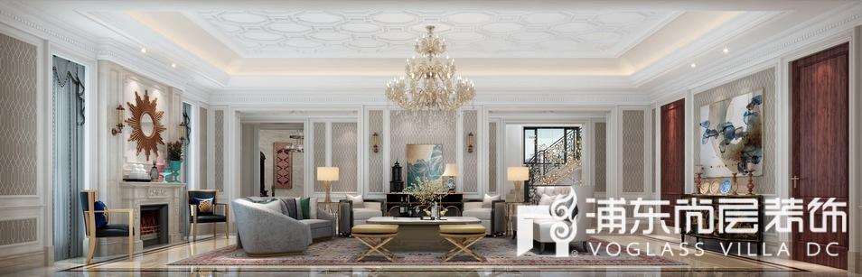 绿城玫瑰园别墅客厅装修效果图