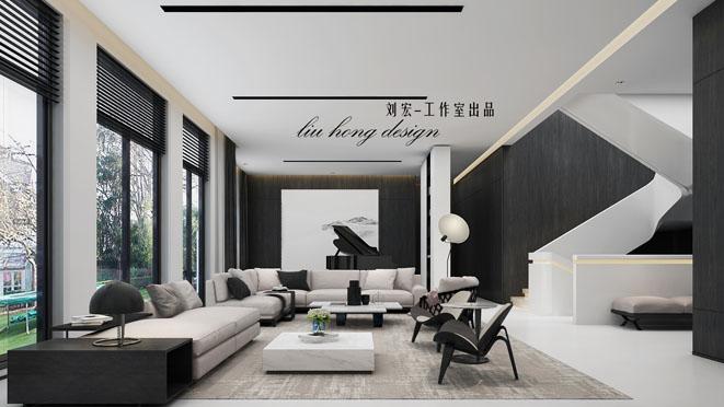 东郊罗兰极简主义风格独栋别墅装修效果图