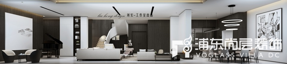 东郊罗兰别墅客厅装修设计效果图