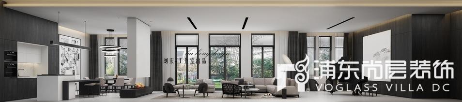 东郊罗兰别墅极简主义客厅装修效果图
