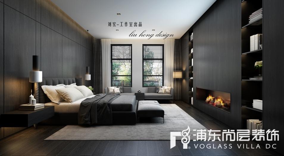 东郊罗兰别墅极简主义卧室装修效果图