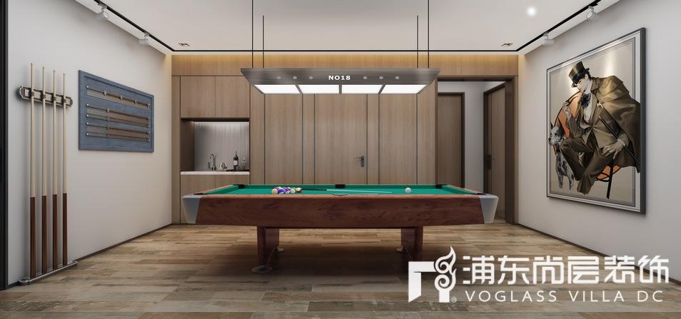 东园雅集轩桌球区装修设计效果图