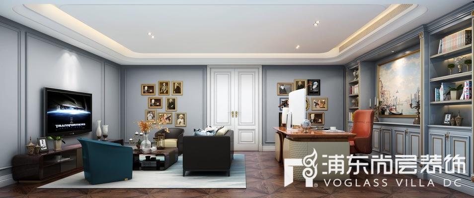 東郊羅蘭別墅書房裝修設計效果圖