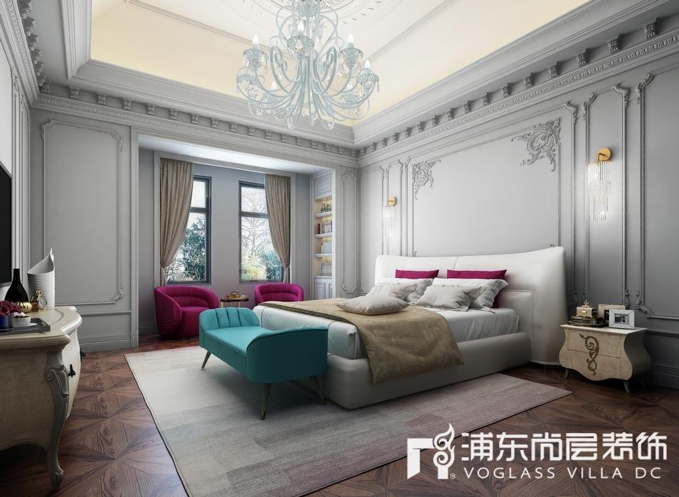 東郊羅蘭別墅主臥室裝修設計效果圖