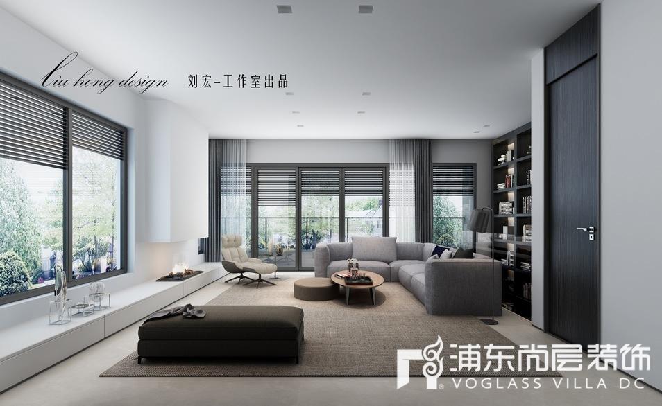 上海泷湾苑别墅客厅装修效果图