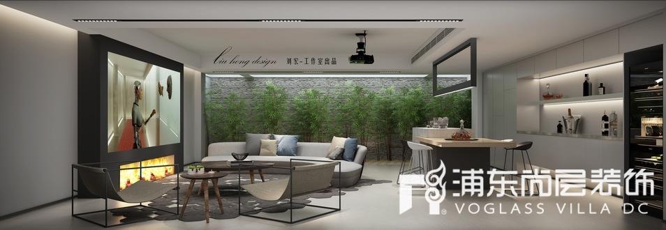 上海泷湾苑别墅地下室装修效果图