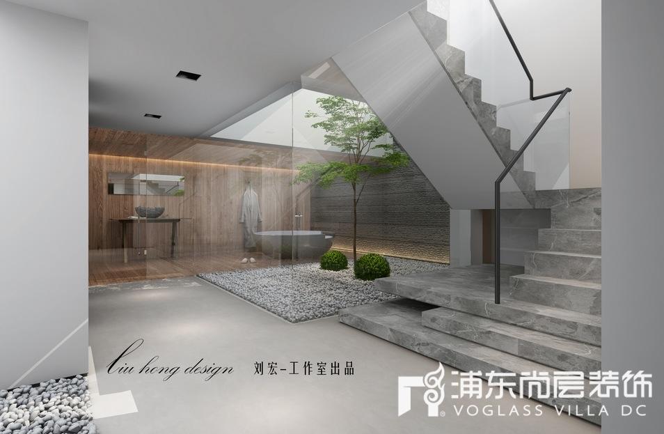 上海泷湾苑别墅地下庭院装修效果图