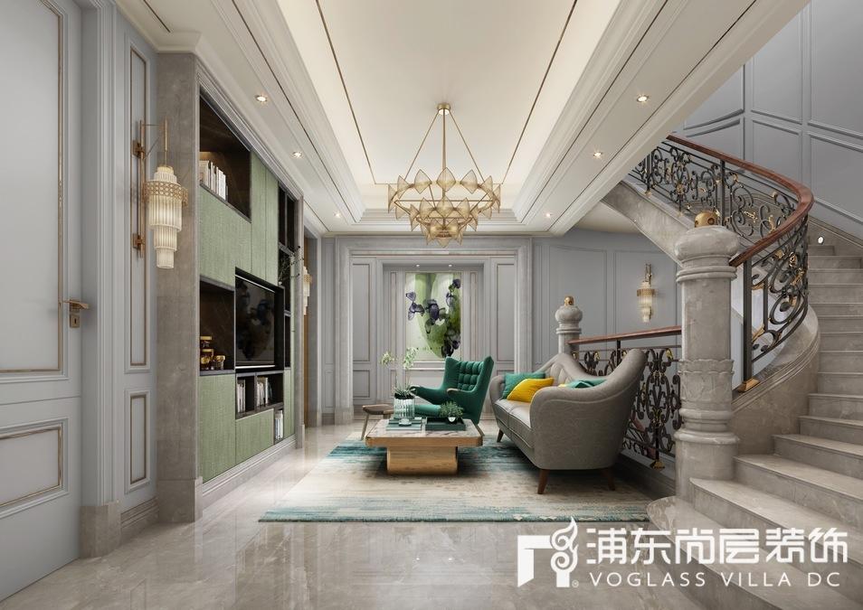 东郊罗兰别墅起居室装修设计效果图