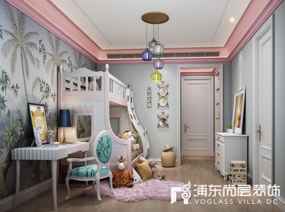 东郊罗兰别墅女孩房装修设计效果图