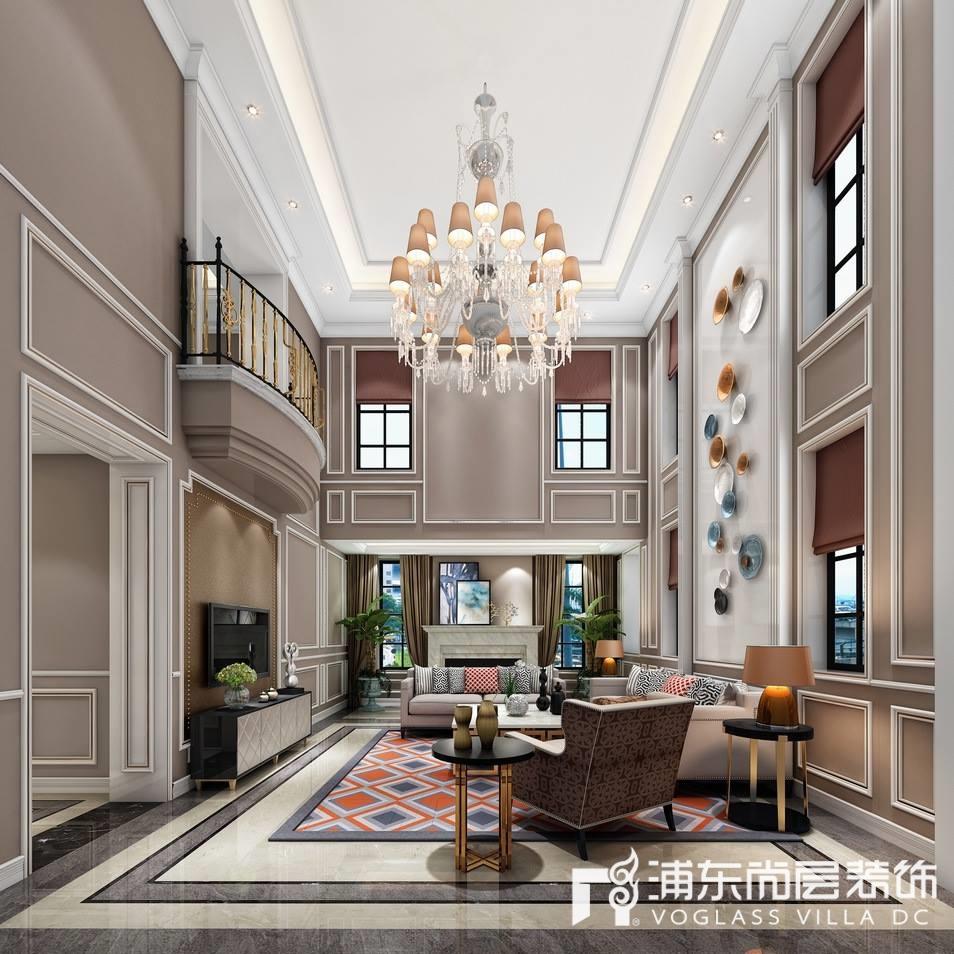 远洋鸿郡别墅客厅装修设计效果图