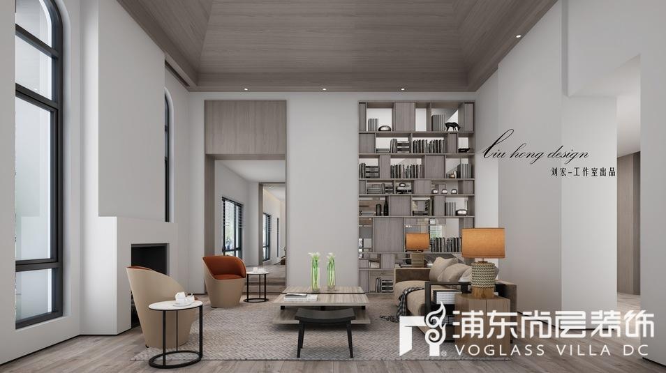 长泰西郊别墅现代简约风格客厅装修效果图