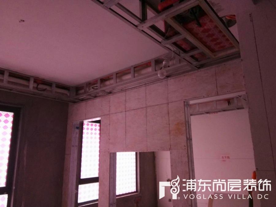 东原逸墅装修项目隐蔽施工现场照片