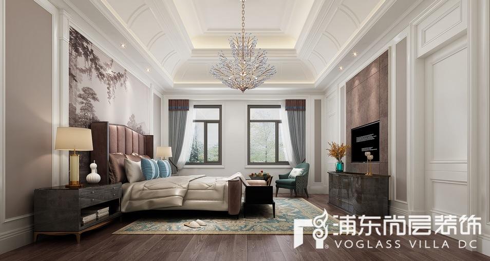 中海紫御豪庭简美混搭风格别墅卧室装修效果图