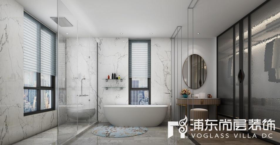 中骏天誉别墅现代风格卫生间装修效果图