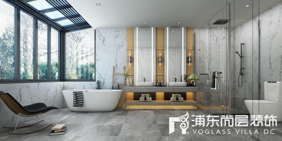 中骏天誉现代风格别墅卫生间装修效果图