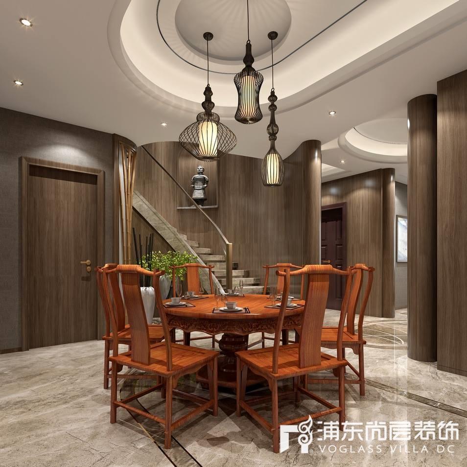 宝华源墅新中式风格餐厅装修效果图