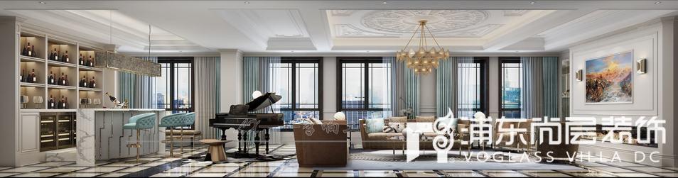 露香园法式风格大客厅装修效果图