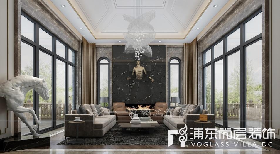 扬州别墅议事厅装修设计效果图