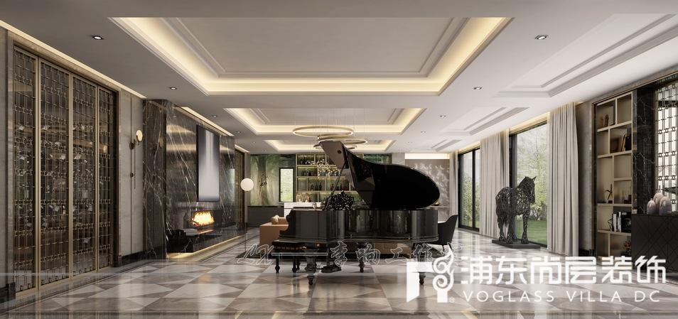 扬州别墅地下室客厅装修效果图