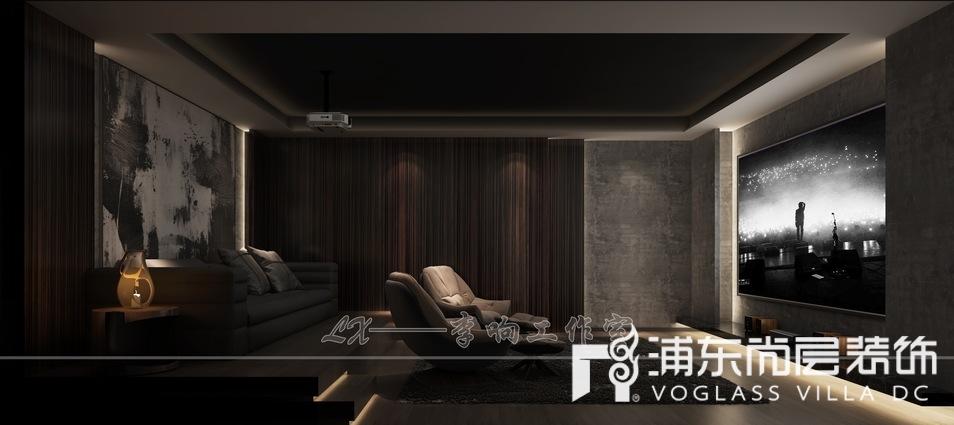 扬州别墅地下室视听室装修效果图