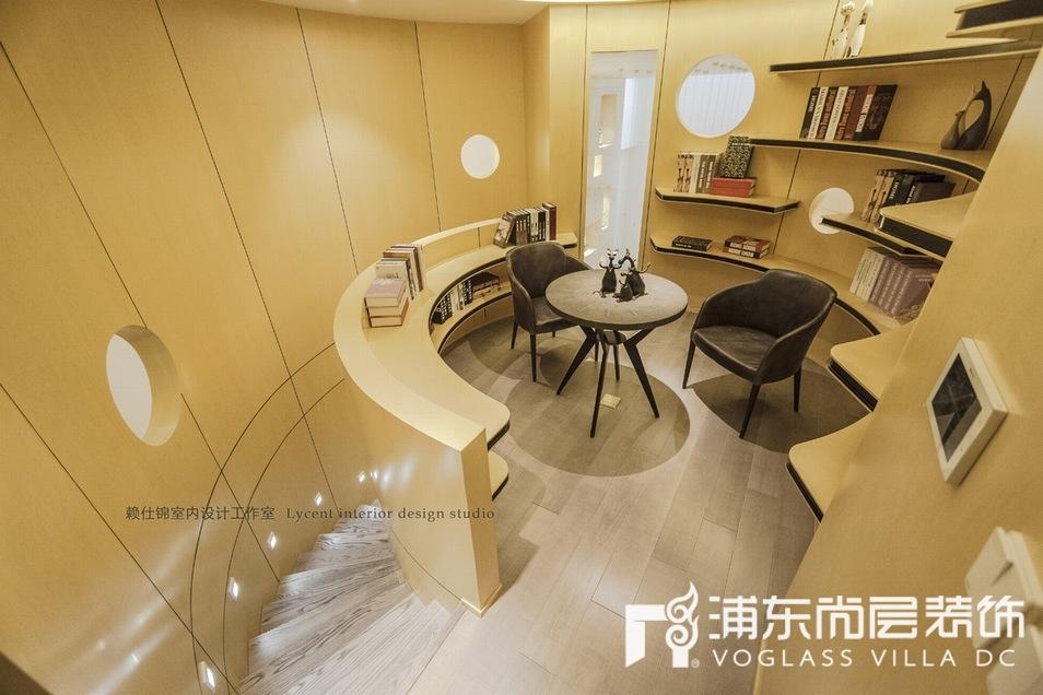 宝华源墅现代化个性书房装修设计效果图