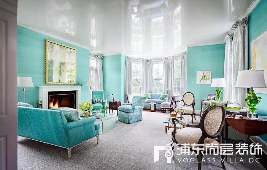 Tiffany蓝的家居装修设计效果图