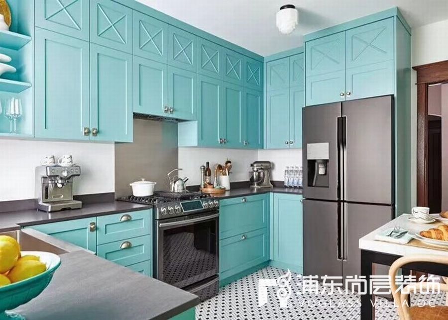Tiffany蓝厨房家居色彩搭配