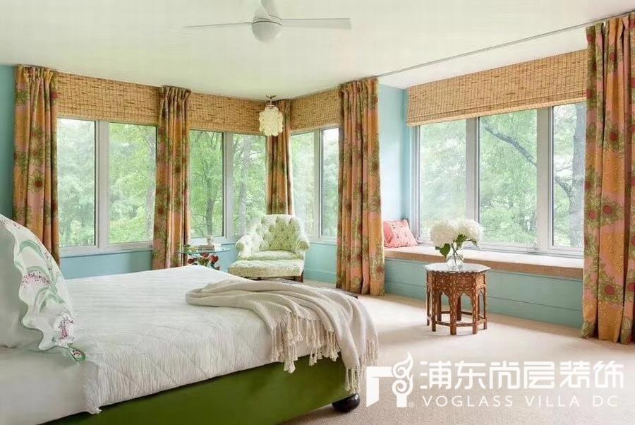 Tiffany蓝与绿色的家居色彩搭配设计效果图