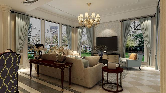 梵克雅堡别墅美式风格装修效果图
