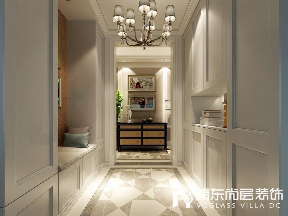 梵克雅堡别墅美式风格门厅装修效果图