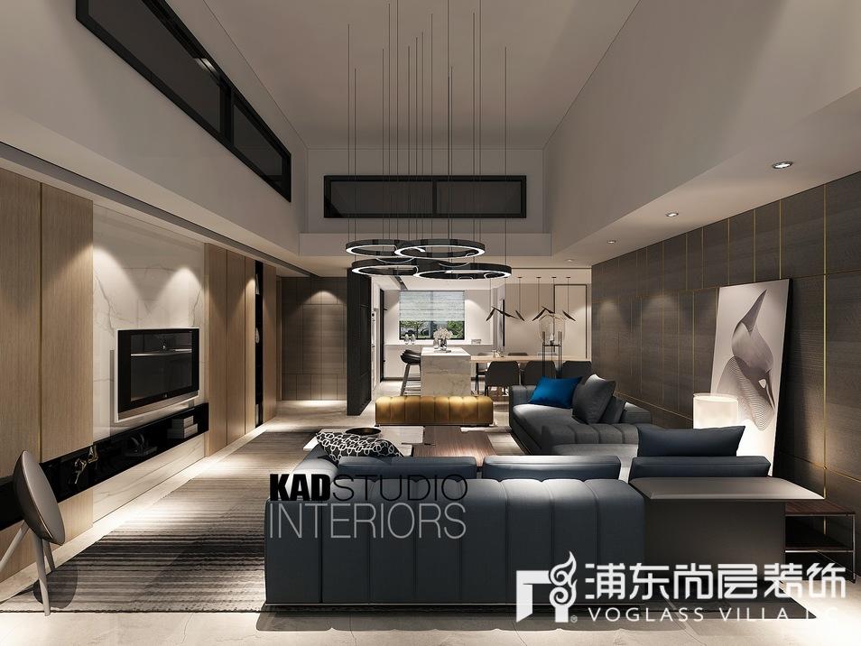 一品漫城别墅客厅装修设计效果图