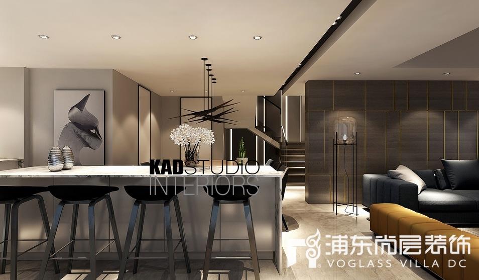 一品漫城别墅现代轻奢风格餐厅装修效果图
