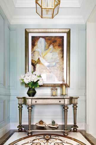美式风格别墅门厅装修设计实景图