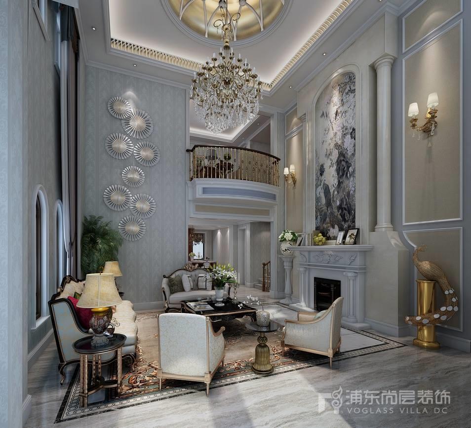 凯迪赫菲庄园别墅客厅装修设计效果图