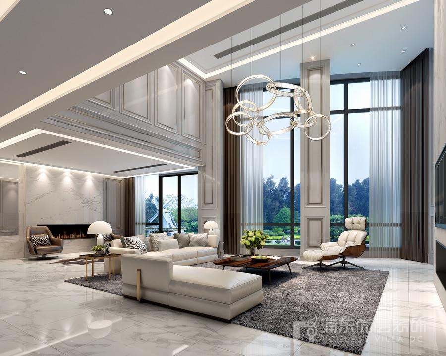 现代风格别墅豪宅客厅装修效果图