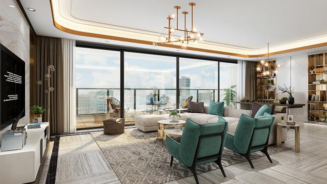翡丽甲第240m²现代轻奢风格住宅装修设计案例