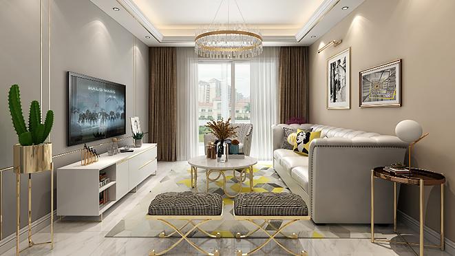 中央城126平米现代轻奢风格住宅装修设计案例