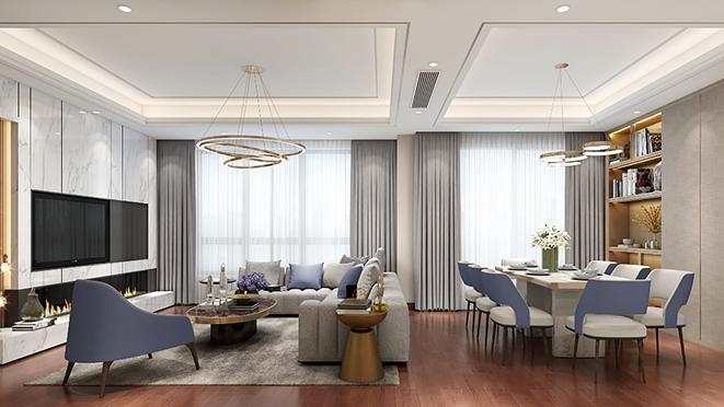 锦绣前城160m²现代轻奢住宅装修设计方案