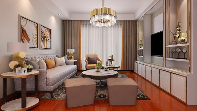仁恒西郊188m²现代轻奢风格住宅装修设计案例