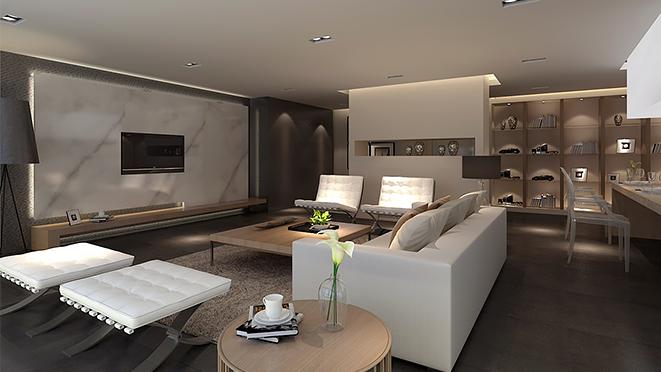 世纪海景240平米现代北欧风格住宅装修案例