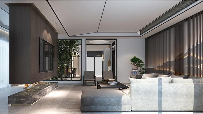 金山何府420平米现代风格建筑室内装修设计案例