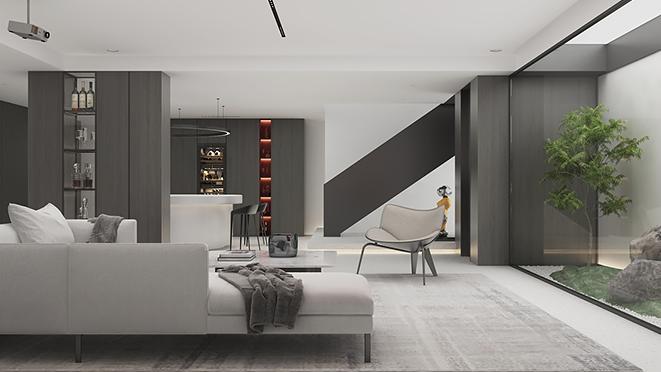 英庭别墅650平方米《小白》现代极简风格别墅装修设计案例
