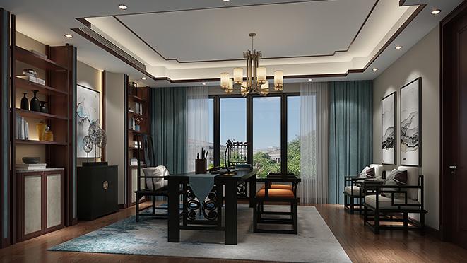 东海高尔夫600平米新中式风格别墅装修设计案例