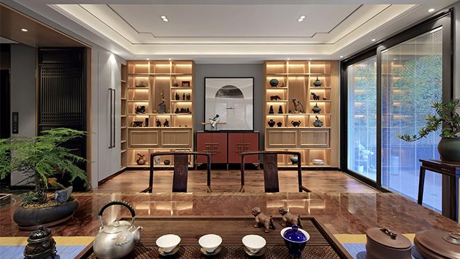 白金院邸540平方现代简约风格别墅装修设计案例