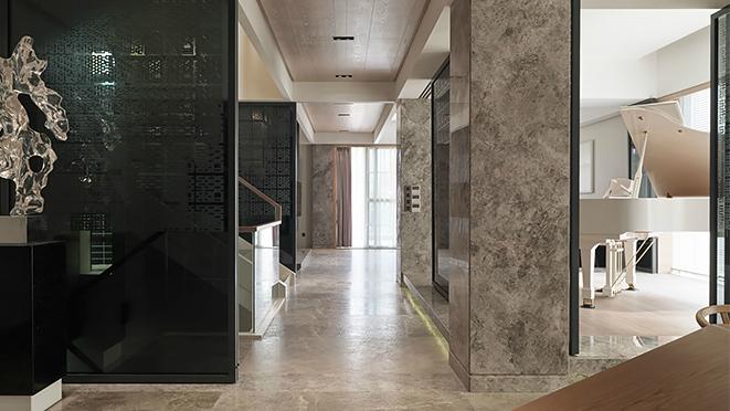 枫丹白露320平方现代简约风格别墅装修设计案例